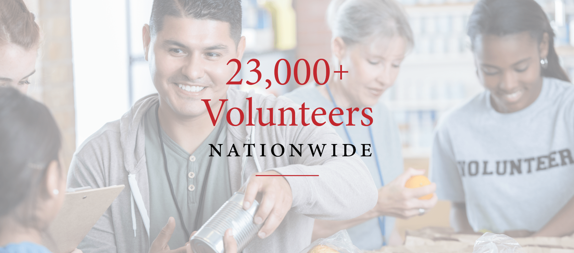 23,000+ Volunteers Nationwide